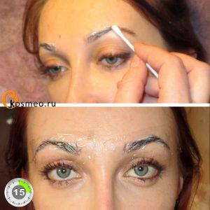 Перманентный макияж контура бровей с растушевкой thumbnail