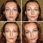 коррекция овала лица макияжем