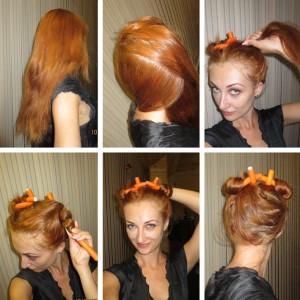 завивка волос на папильотки