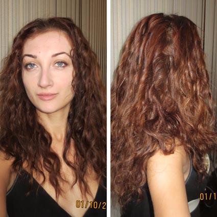 Химическая завивка дома волос