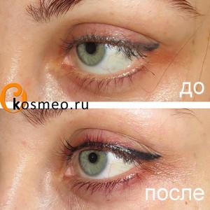 татуаж глаз до и после