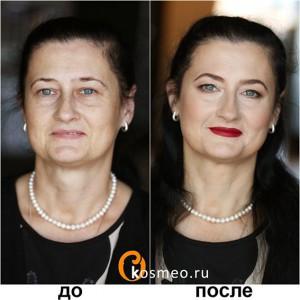 возрастной макияж до и после