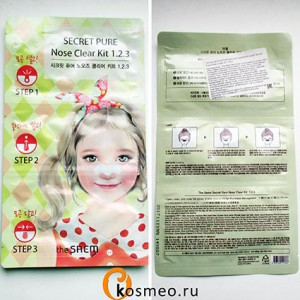 The Saem Secret Pure Nose Clear Kit 1 2 3