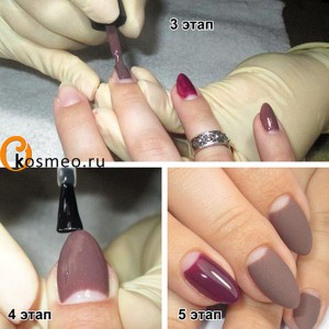 матовый маникюр, матовые ногти